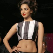 Kiara Advani Navel Long Skirt at Lakme Fashion Week