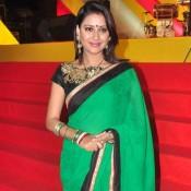Pratyusha Banerjee in Green Saree at Mulund Festival Grand Finale