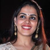 Genelia D'Souza in Cream Floor Length Anarkali Dress