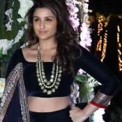 Parineeti Chopra in Black lehenga for Riddhi Malhotra and Tejas Talwalkar Sangeet Ceremony