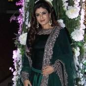 Raveena Tandon in Green Lehenga Choli at Riddhi Malhotra Sangeet Ceremony