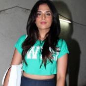 Richa Chadda in Sky Blue Crop Top at Chef Screening