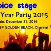 Spice Stage New Year Party 2015 at VGP Golden Beach in Chennai