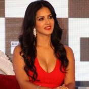 Sunny Leone in Red Gown at Launch Splitsvilla Season 7