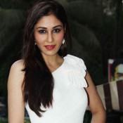 Pooja Chopra Hot in White Evening Gown at The World Before Her Special Screening