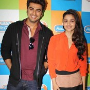 Alia Bhatt Hot in Mini Skirt Sexy Thigh Legs Shown Pics at Radio City For 2 States Movie Promotion