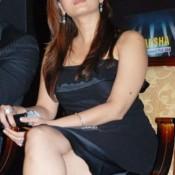Aishwarya Rai Hot Legs Photos in Black Dress