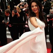 Mallika Sherawat Hot in White Gown at Cannes Film Festival 2014 Red Carpet Pics