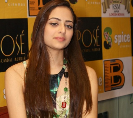 Zoya Afroz in White Evening Gown Photos at Promote The Xpose