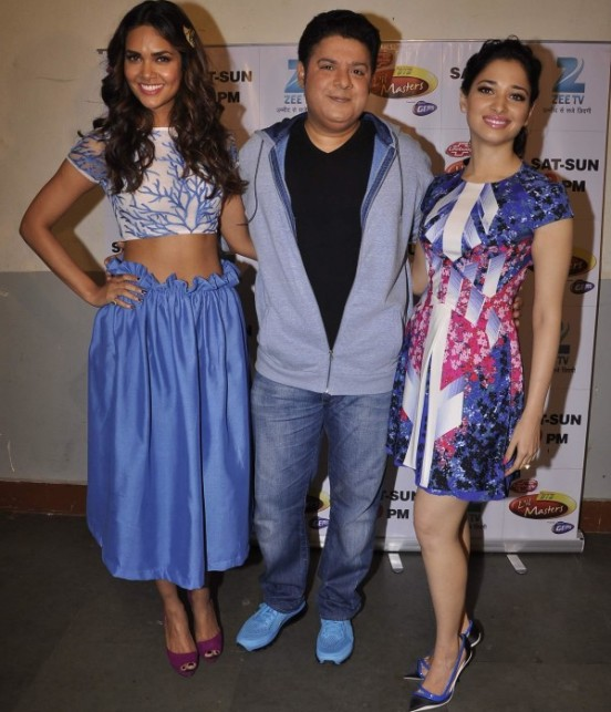 Humshakals Hindi Movie Stars Promote Film on the Sets of Dance India Dance Little Master