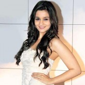 Alia Bhatt Hot Armpit Show Pics in White Short Tight Dress