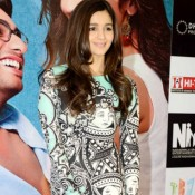 Alia Bhatt in Printed One Piece Dress at Delhi For 2 States Movie Promotion
