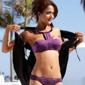 Amrita Arora Hot Bikini Pics – Bold Photoshoot in Purple Bikini from Kambakkht Ishq Movie