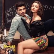 Arjun Kapoor and Alia Bhatt Filmfare Hot Photoshoot – Spicy Photos on Magazine Cover Page before TWO STATES Release