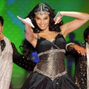Bipasha Basu Hot Armpit Pics in Black Dress Gown