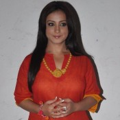 Divya Dutta in Orange Kurti with Patiyala Printed Salwar Photos