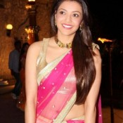 Kajal Agarwal Hot Navel in Saree Pics