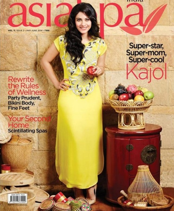 Kajol Devgn Hot on Cover of Asia Spa Magazine May 2014 Issue