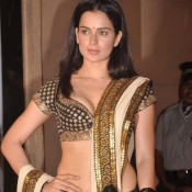 Kangana Ranaut in Black Half Saree Photos
