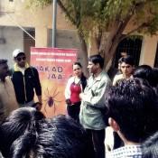 Makad Jaala Hindi Movie Team Promoting Movie at MBC Girls Collage in Barmer Rajasthan