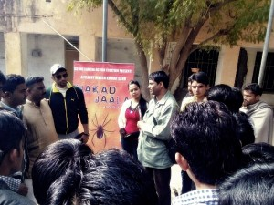 Makad Jaala Hindi Movie Team Promoting Movie at MBC Girls ‎Collage in Barmer Rajasthan