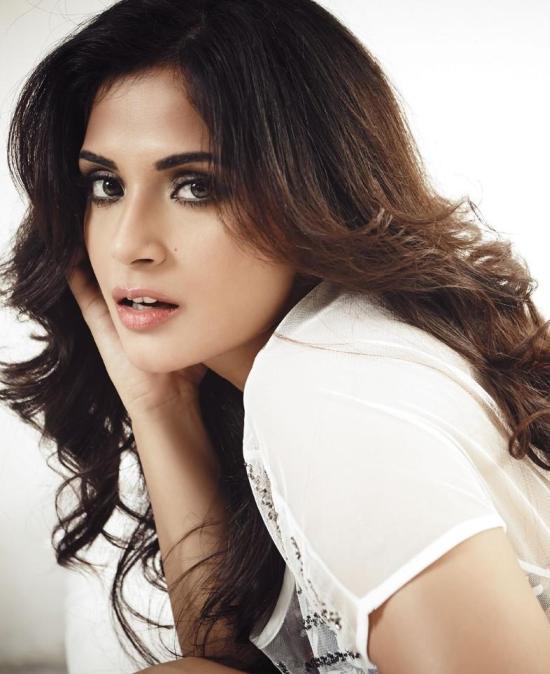 Richa Chadda Hot Pics in White Bikini for Fashion Magazine FHM India
