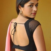Sraddha Das Hot in Saree Bare Back Images