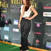 Vaani Kapoor in Front Open Chest Exposing White Top at IIFA Awards 2014
