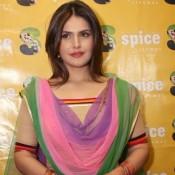 Zarine Khan Hot in Orange Cream Patiyala Salwar Suit Punjabi Dress – Hot Photos