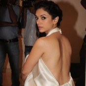 Aditi Rao Hydari Backless In White Silk Short Gown Dress – Bare Back Hot Photos