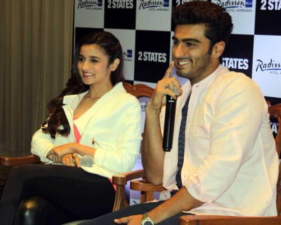 Alia Bhatt and Arjun Kapoor in Ahmedabad for 2 States Movie Promotion