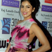 Pallavi Sharda Hot Armpits Pics in Pink White Evening Gown