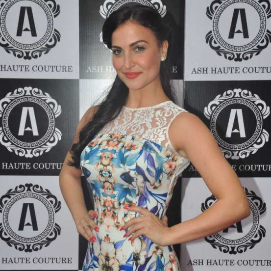 The Ash Haute Couture Store Launch Photos – Elli Avram in Floral Maxi Gown