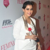 Kajol in White Skirt at Femina Beauty Awards 2015