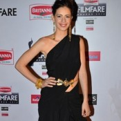 Kalki Koechlin in Black Saree Gown at 60th Britannia Filmfare Awards 2015