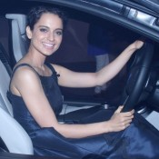 Kangana Ranaut at BMW I8 Hybrid Car Launched in Mumbai