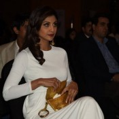 Shilpa Shetty in White Gown at Brand Vision India 2020 Awards