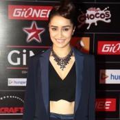 Shraddha Kapoor in Blue Pant Suit at GiMA Awards 2015