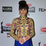 Nargis Fakhri in Blue Harem Skirt at 60th Britannia Filmfare Awards 2015