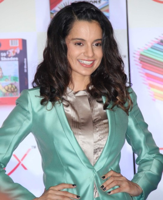 Kangana Ranaut  in Green Gray Suits at Launch of KRUX Stationary Products
