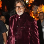 Amitabh Bachchan in Maroon Velvet Blazer at Ambanis Mom's Birthday Party
