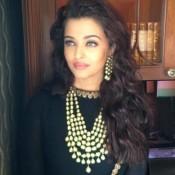 Aishwarya Rai in Black Anarkali Dress at Kalyan Jewellers Showroom Inauguration Photos