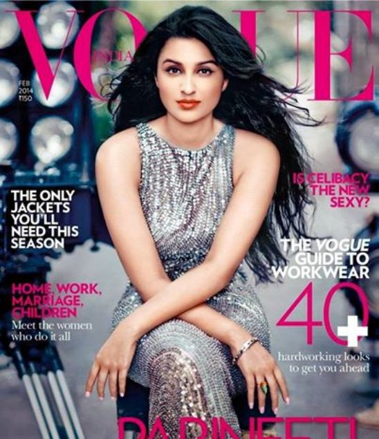 Parineeti Chpora Hot at Vogue India Cover Magazine February 2014 Issue