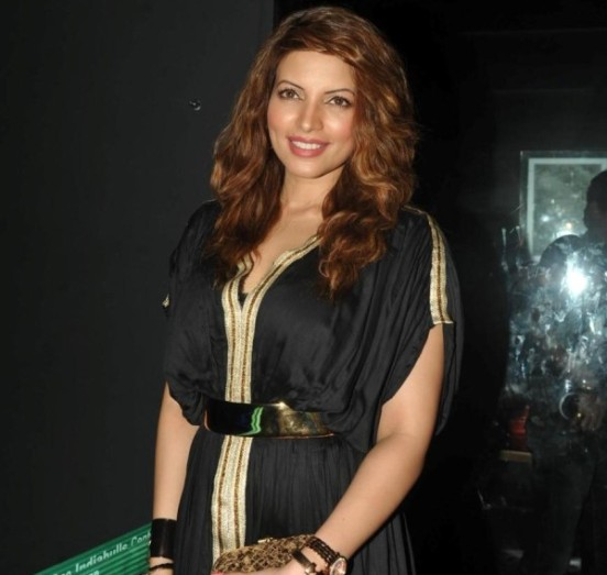Shama Sikander Hot in Black Long Floor length Gown Dress at Savvy I Believe Felicitation Function