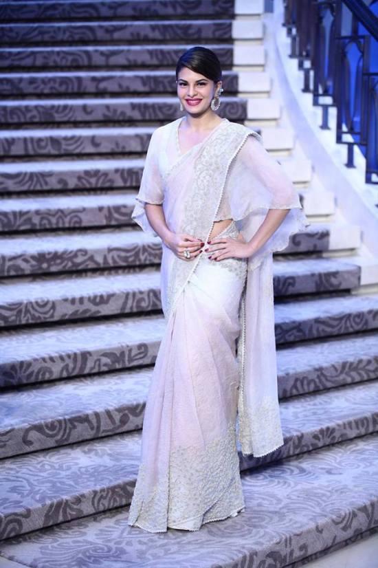 Jacqueline Fernandez In Saree For Anamika Khanna Lakme