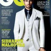 Sidharth Malhotra at GQ Cover Magazine February 2014 Issue
