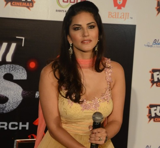 Sunny Leone in Anarkali Churidar Suits at Ragini MMS 2 Movie Promotion in Bhopal