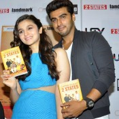 Alia Bhatt Navel in Blue Short Top with Short Mini Skirt at Launch Cover Book 2 States