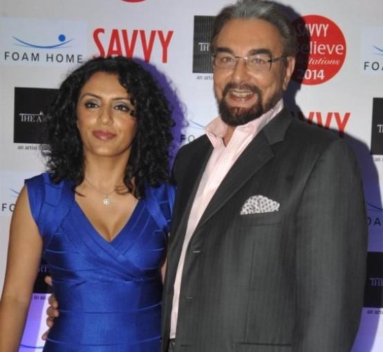 Actor Kabir Bedi's Wife Parveen Dusanj  in Blue Short Dress at Savvy I Believe Felicitation Function in Mumbai