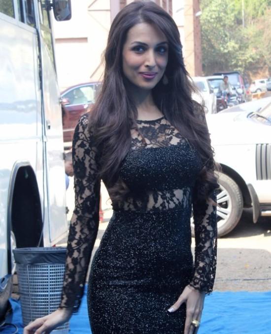 Malaika Arora Khan in Black Dress – Hot Pics at India's Got Talent 2014
